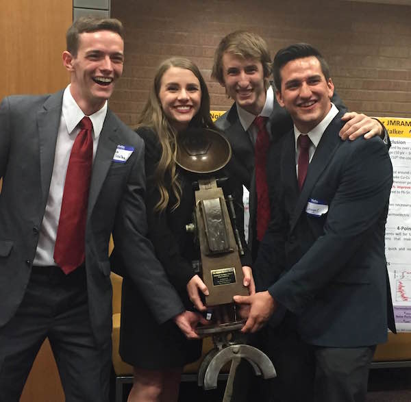 ASU engineers take on rivals, earn first place Materials Bowl award