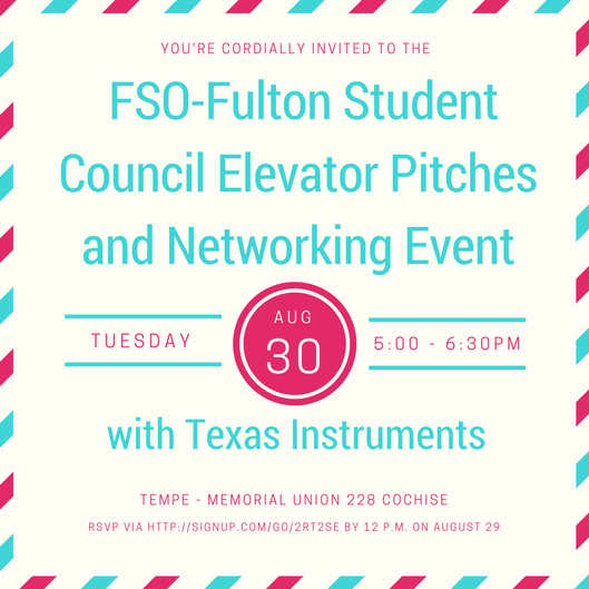 August 30:Learn how to talk and network like a pro with Texas Instruments
